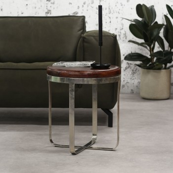 Nell table d'appoint en cuir