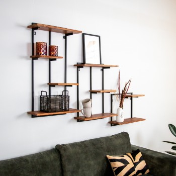 Stylish wall shelf set Waimea