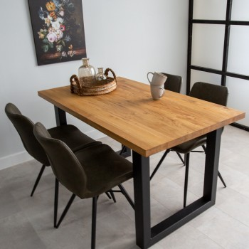 Klara oak dining table with...