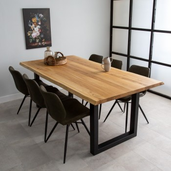 Anisa oak dining table,...