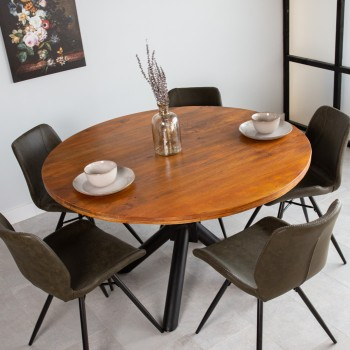 Dining table round Clémence