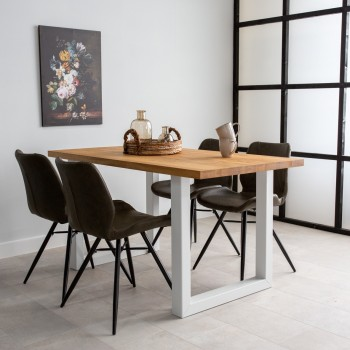 Sara oak dining table with...