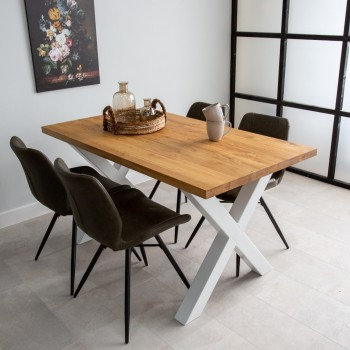 Julia oak dining table with...