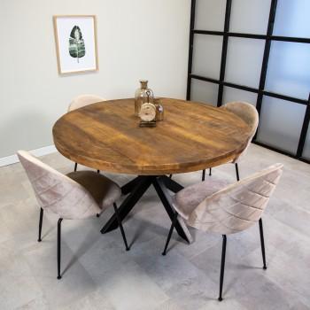 Spacious round dining table...