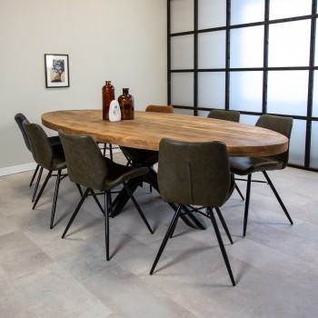 Matti oval mango wood table