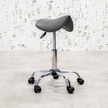 Saddle stool grey