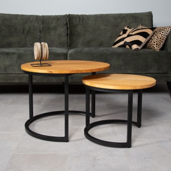Set de table basse en pin...
