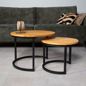 Pine coffee table set...