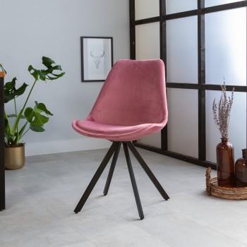 Trendy velvet dining chair...