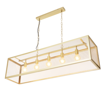Goudkleurige hanglamp Elya...