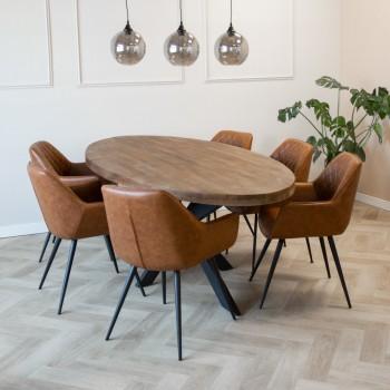 Table ovale Taliya en bois...