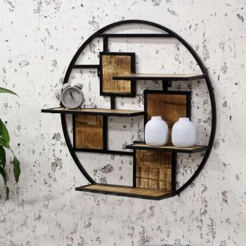 Wall shelf round Lyna