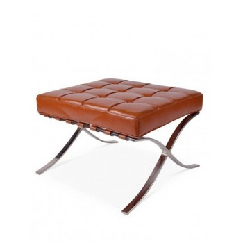 Expo hocker split leather